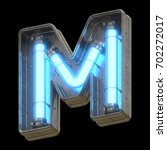 metallic futuristic font with... | Shutterstock . vector #702272017