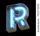 metallic futuristic font with... | Shutterstock . vector #702272053