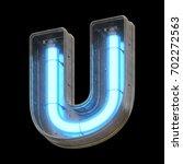 metallic futuristic font with...   Shutterstock . vector #702272563