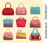 fashion bags set icon. set of... | Shutterstock .eps vector #702283267