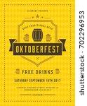 oktoberfest beer festival... | Shutterstock .eps vector #702296953