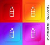 soda bottle four color gradient ...