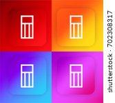 eraser four color gradient app...