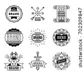 simple mono lines logos... | Shutterstock .eps vector #702309847