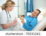 doctor or nurse talking to