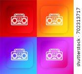 radio four color gradient app...