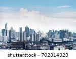 cityscape bangkok skyline ... | Shutterstock . vector #702314323