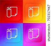 paper roll four color gradient...