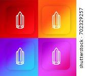 rocket four color gradient app...