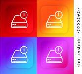 hard drive four color gradient...