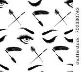 professional makeup artist... | Shutterstock .eps vector #702330763