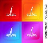 hair four color gradient app...