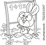 coloring page outline of... | Shutterstock .eps vector #702351547
