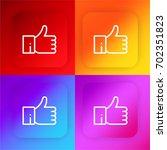 like four color gradient app...