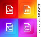 checklist four color gradient...