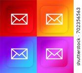 envelope four color gradient...