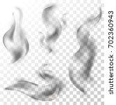 set of delicate cigarette... | Shutterstock .eps vector #702360943