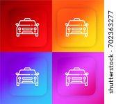taxi four color gradient app... | Shutterstock .eps vector #702363277