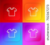 t shirt four color gradient app ...
