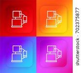 responsive four color gradient...