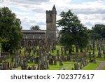 stirling  scotland  august 09 ... | Shutterstock . vector #702377617