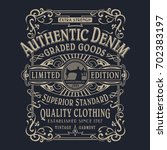 Denim Typography  Tee Shirt...