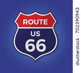 route 66 sign vector... | Shutterstock .eps vector #702390943