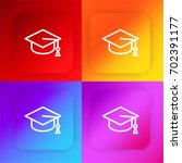 mortarboard four color gradient ...