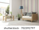 idea of white room with... | Shutterstock . vector #702392797