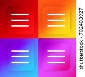 list menu four color gradient...