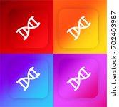 dna chromosome four color...