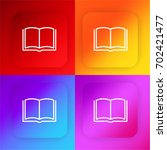 open book four color gradient...