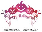 mosaic label with halloween... | Shutterstock .eps vector #702425737