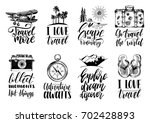 vector set of hand lettering... | Shutterstock .eps vector #702428893