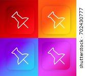 push pin four color gradient...