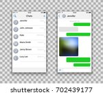 two chat screens templates ... | Shutterstock .eps vector #702439177