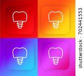 implants four color gradient...