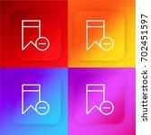 bookmark four color gradient...