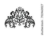 vintage baroque frame scroll...   Shutterstock .eps vector #702463027