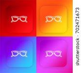 sunglasses four color gradient...