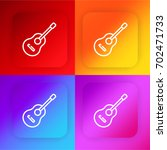 guitar four color gradient app...