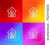 smart home four color gradient...