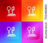 earphones four color gradient...