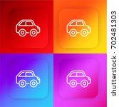 car four color gradient app...