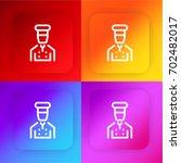 cooker four color gradient app...