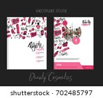 print brochure makeup cover... | Shutterstock .eps vector #702485797