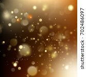 new year and xmas gold dust.... | Shutterstock .eps vector #702486097