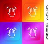 wave hand four color gradient...