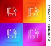 branding four color gradient...