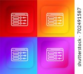 ui design four color gradient...